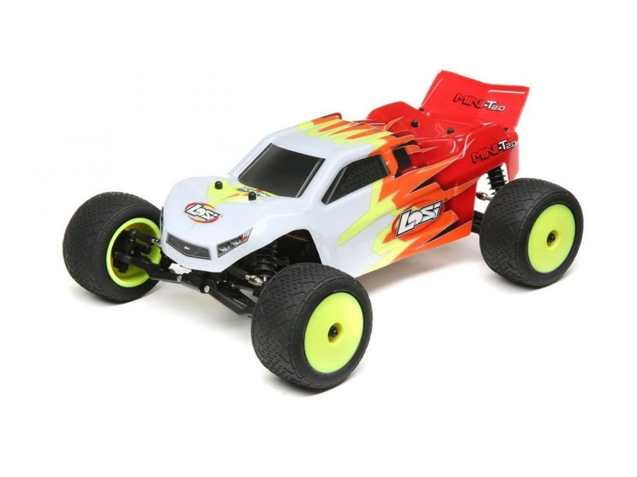 Mini-T 2.0 RTR, Red/White: 1/18 2wdC-LOS01015T1 Brushed