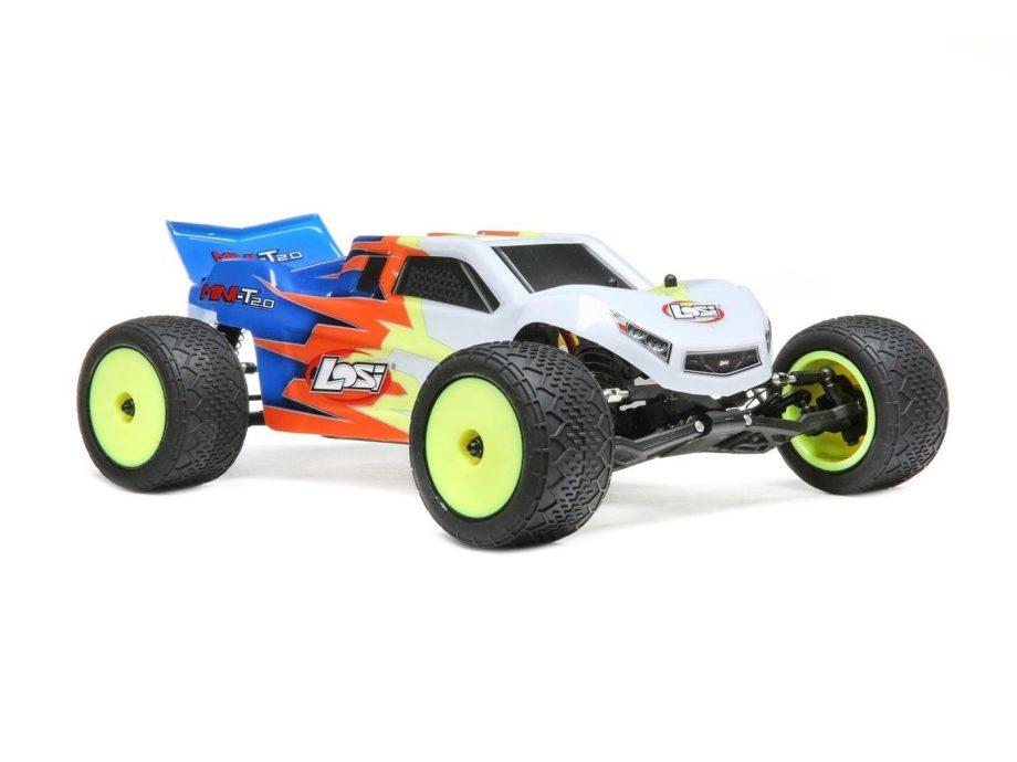 Mini-T 2.0 RTR, Blue/White: 1/18 2wd Brushed