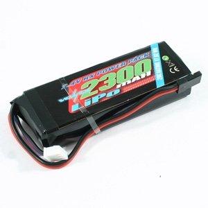 VOLTZ 2300MAH 2S 7.4V RX LIPO STRAIGHT BATTERY PACK