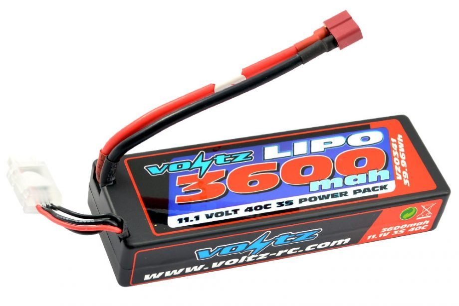 VOLTZ 3600MAH HARD CASE 3S 11.1V 40C HARDCASE LIPO STICK PACK LOW PRO (2S SIZE)