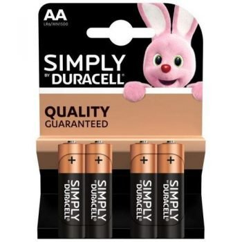 DURACELL AA PACK 4