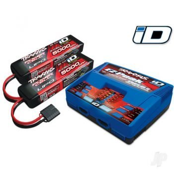 iD Completer Pack with 1x EZ-Peak Dual Charger & 2x LiPo 3S 5000mAh Battery Traxxas