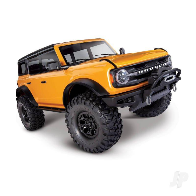 Traxxas TRX-4 2021 Ford Bronco 1:10 4X4 Electric Scale & Trail Crawler, Orange (+ TQi, XL-5 HV, Titan 550)