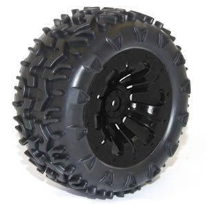 FTX CARNAGE MOUNTED WHEEL/TYRE COMPLETE PAIR - BLACK